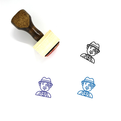 Detective Wooden Rubber Stamp No. 12