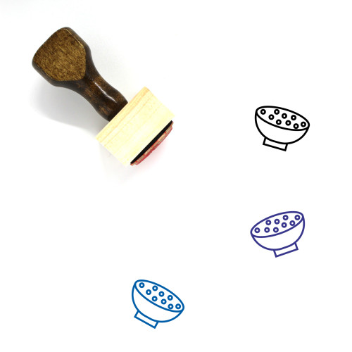 Cereal Wooden Rubber Stamp No. 7