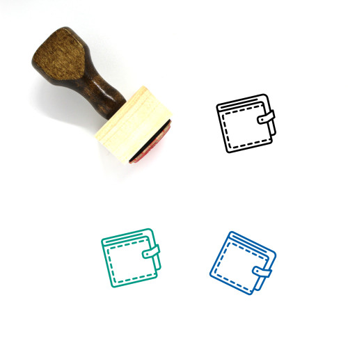Wallet Wooden Rubber Stamp No. 55
