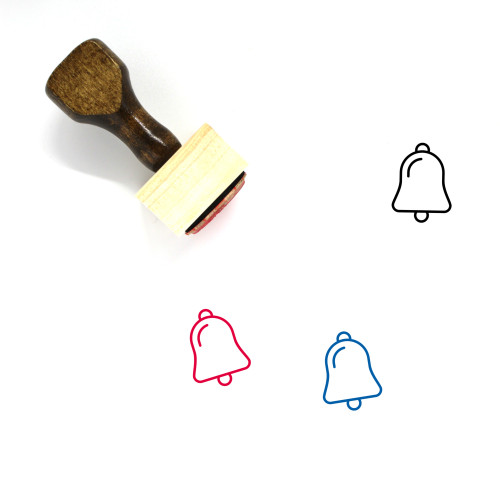 Bell Wooden Rubber Stamp No. 50