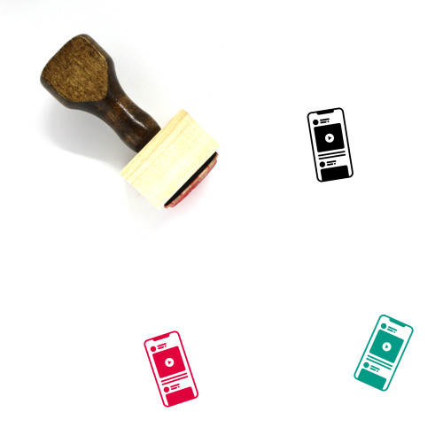 Mobile Interface Wooden Rubber Stamp No. 2