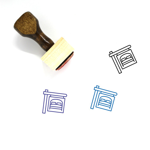 Accommodation Wooden Rubber Stamp No. 1