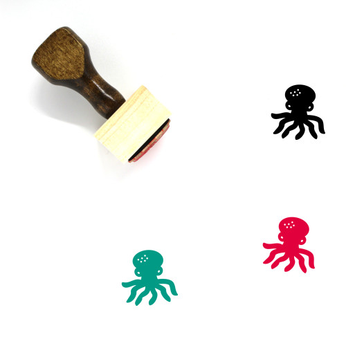 Octopus Wooden Rubber Stamp No. 36