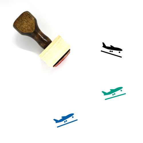 Airplane Wooden Rubber Stamp No. 194