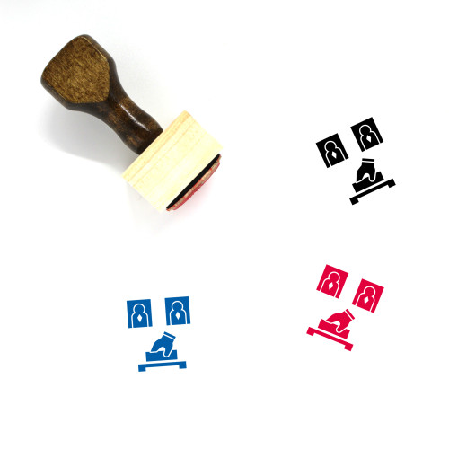 Election Wooden Rubber Stamp No. 23
