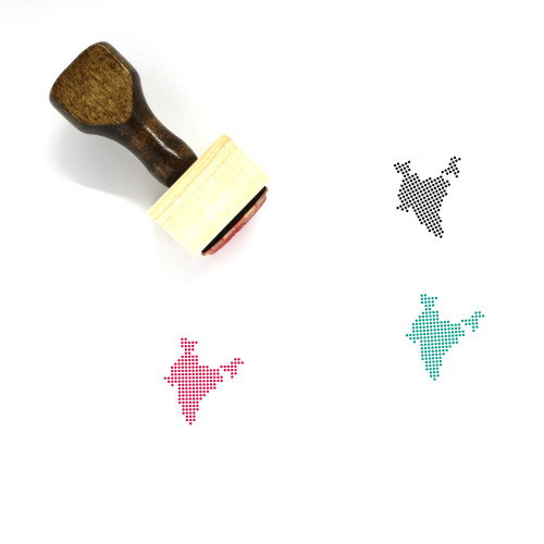 India Wooden Rubber Stamp No. 24
