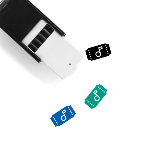 Concert Ticket Self-Inking Rubber Stamp No. 3