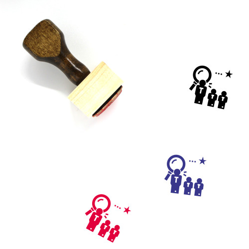 Recruiter Wooden Rubber Stamp No. 2
