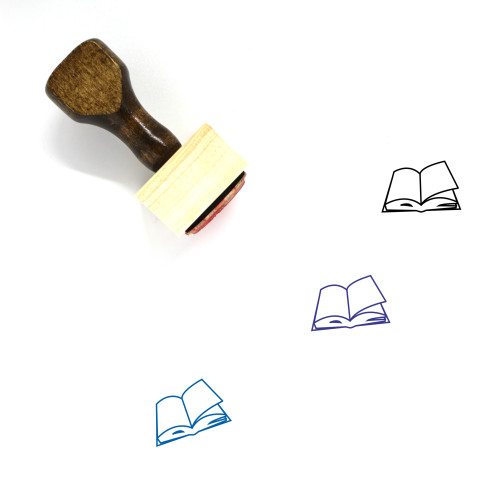 Book Wooden Rubber Stamp No. 566