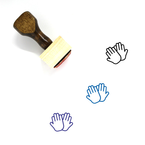 Gloves Wooden Rubber Stamp No. 25