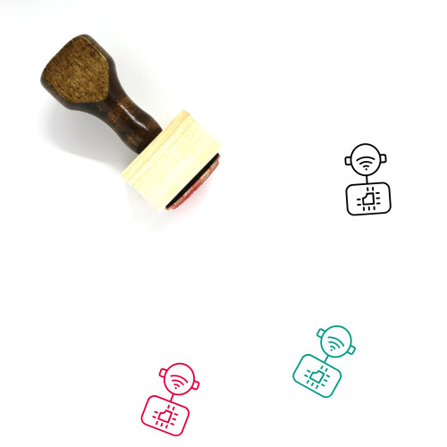 Artificial Intelligence Wooden Rubber Stamp No. 4