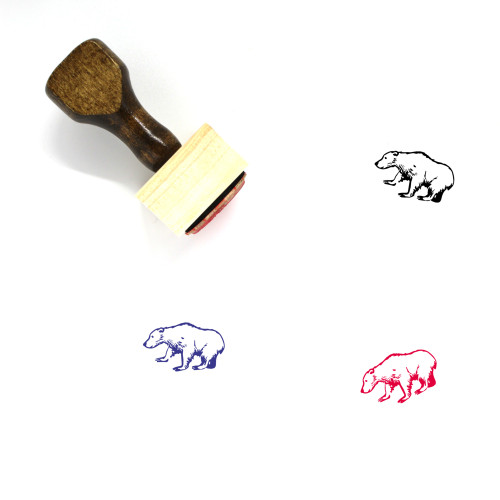 Bear Wooden Rubber Stamp No. 25
