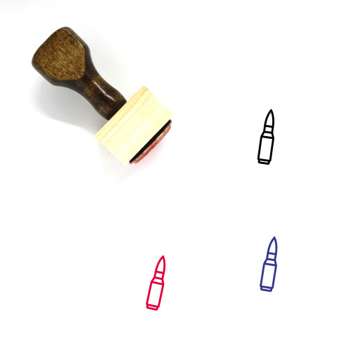 Ammo Wooden Rubber Stamp No. 1
