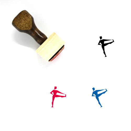 Yoga Wooden Rubber Stamp No. 6