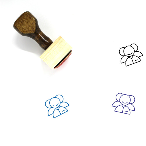 Multiple Users Wooden Rubber Stamp No. 2