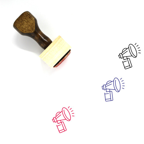 Air Horn Wooden Rubber Stamp No. 1