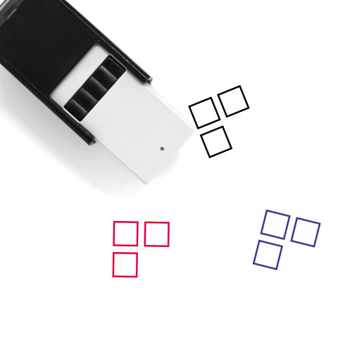 3 Squares Self-Inking Rubber Stamp No. 1