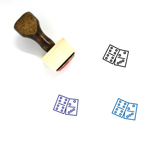 Casino Wooden Rubber Stamp No. 17