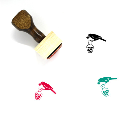 Crow Wooden Rubber Stamp No. 5