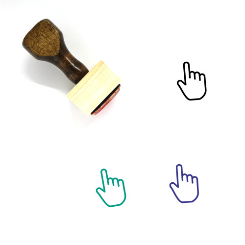 One Finger Wooden Rubber Stamp No. 7