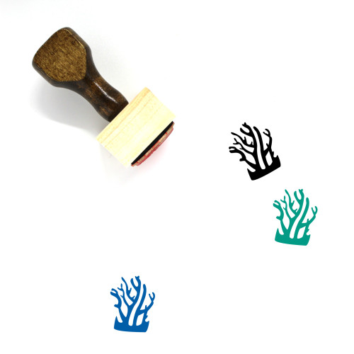 Coral Wooden Rubber Stamp No. 6