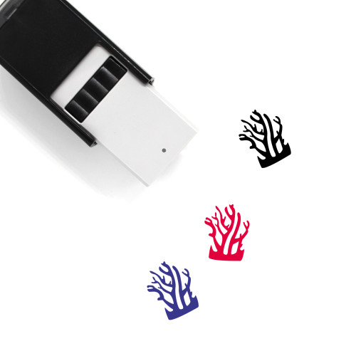 Coral Self-Inking Rubber Stamp No. 6
