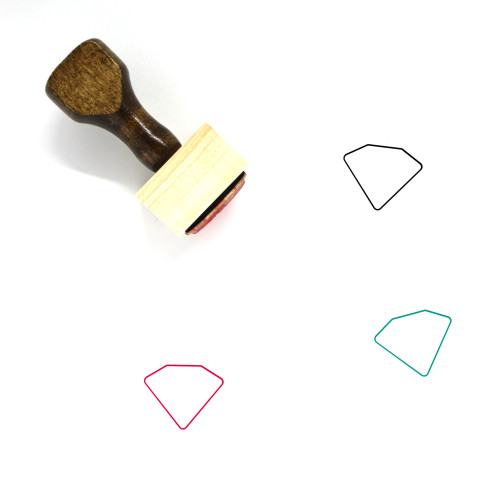 Diamond Wooden Rubber Stamp No. 46