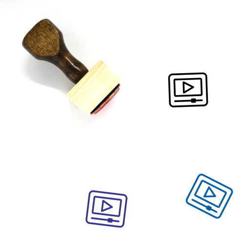 Video Wooden Rubber Stamp No. 41