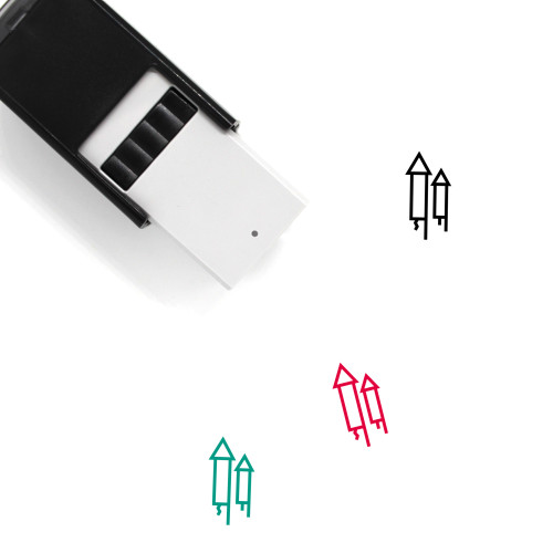 Fireworks Self-Inking Rubber Stamp No. 79