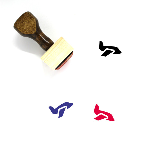 Airplane Wooden Rubber Stamp No. 204