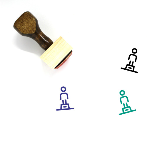 Statue Wooden Rubber Stamp No. 11