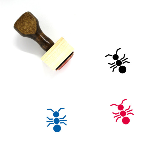 Ant Wooden Rubber Stamp No. 13