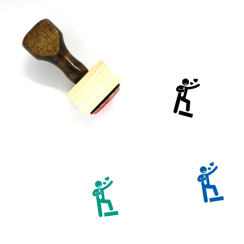 Passionated Businessman Wooden Rubber Stamp No. 1