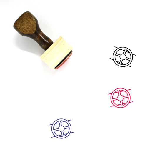Valve Wooden Rubber Stamp No. 1