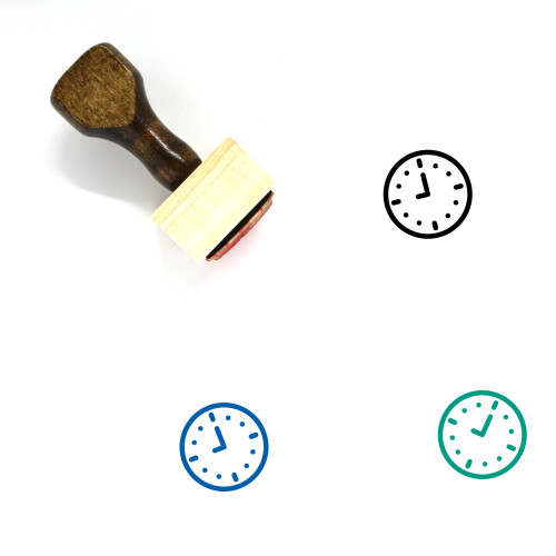 9 O'Clock Wooden Rubber Stamp No. 1