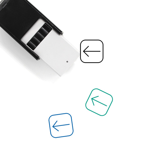 Arrow Left Self-Inking Rubber Stamp No. 53
