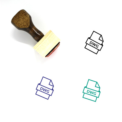 DWG File Wooden Rubber Stamp No. 5