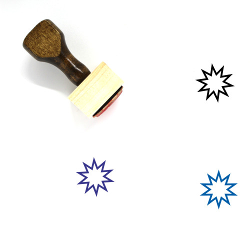 Starburst Wooden Rubber Stamp No. 1