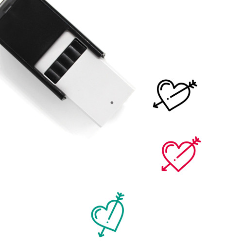 Arrow Heart Self-Inking Rubber Stamp No. 6