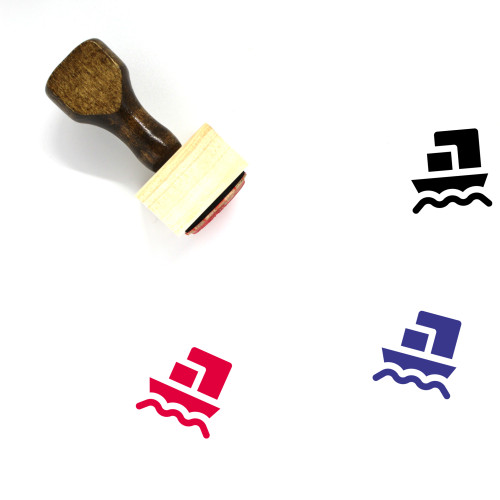 Ship Wooden Rubber Stamp No. 70