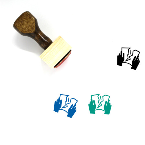 Tearing Wooden Rubber Stamp No. 1