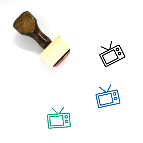 Television Wooden Rubber Stamp No. 34