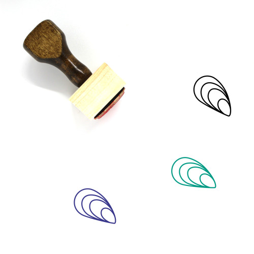 Oyster Wooden Rubber Stamp No. 7