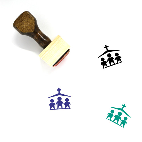Church Wooden Rubber Stamp No. 19