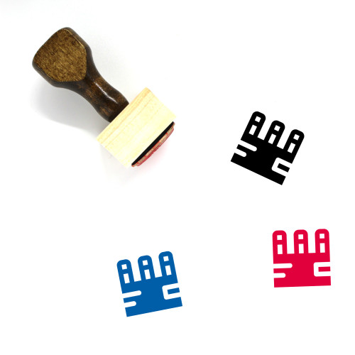 6 Pack Wooden Rubber Stamp No. 1