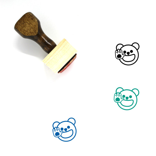 High Five Wooden Rubber Stamp No. 25