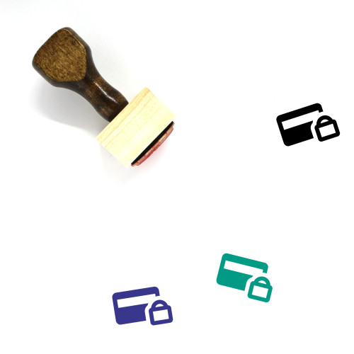 Secure Payment Wooden Rubber Stamp No. 8
