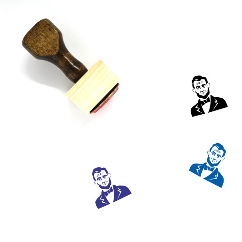 Abraham Lincoln Wooden Rubber Stamp No. 8