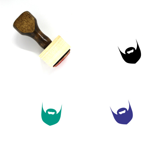 Beard Wooden Rubber Stamp No. 1