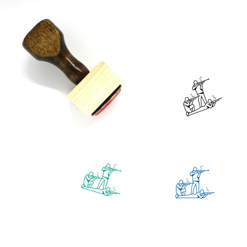 Shooters Wooden Rubber Stamp No. 1